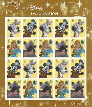 2008 Imagination - Art of Disney 42 Cent US Postage Stamp Unused Sheet of 20 Scott #4342 - #4345