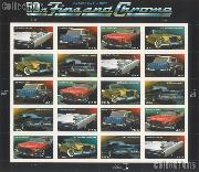 2008 Automobiles of the 1950s 42 Cent US Postage Stamp Unused Sheet of 20 Scott #4353 - #4357