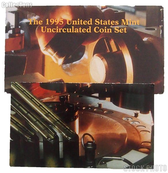 1995 U.S. Mint Uncirculated Set OGP Replacement Envelope and COA