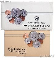 1988 U.S. Mint Uncirculated Set OGP Replacement Envelope and COA