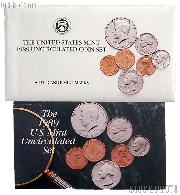 1989 U.S. Mint Uncirculated Set OGP Replacement Envelope and COA