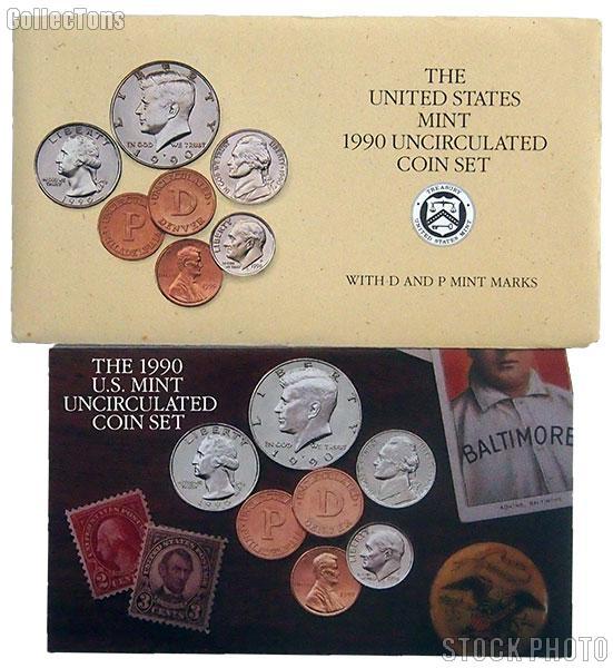 1990 U.S. Mint Uncirculated Set OGP Replacement Envelope and COA
