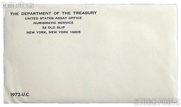 1972 U.S. Mint Uncirculated Set OGP Replacement Envelope
