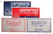2002 U.S. Mint Uncirculated Set OGP Replacement Envelope and COA