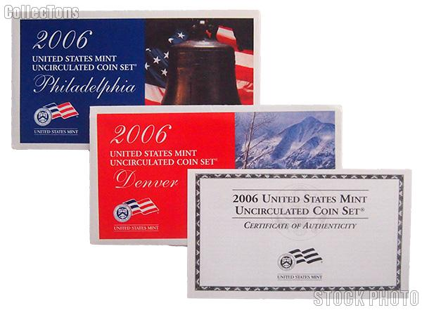2006 U.S. Mint Uncirculated Set OGP Replacement Envelope and COA