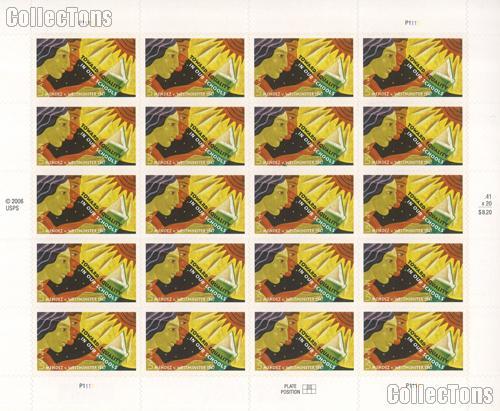 2007 Mendez v. Westminster 41 Cent US Postage Stamp Unused Sheet of 20 Scott #4201