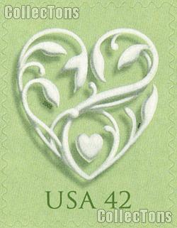 2008 Wedding Hearts 42 Cent US Postage Stamp Unused Sheet of 20 Scott #4271