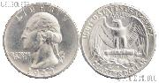 1943-D Washington Silver Quarter in AU+ Condition