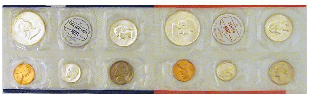1959 Mint Set - All Original 10 Coin U.S. Mint Uncirculated Set