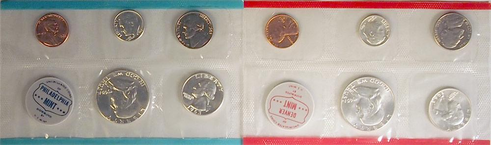 1963 Mint Set - All Original 10 Coin U.S. Mint Uncirculated Set