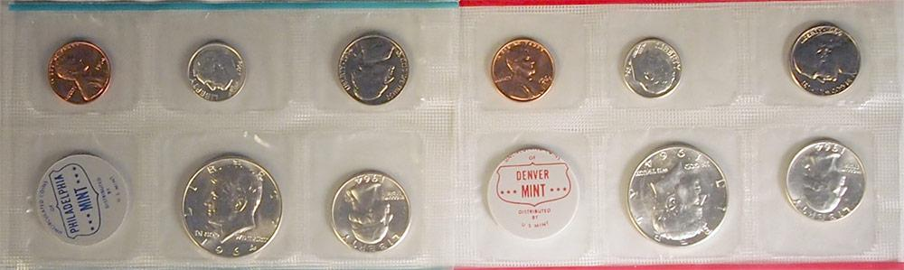 1964 Mint Set - All Original 10 Coin U.S. Mint Uncirculated Set