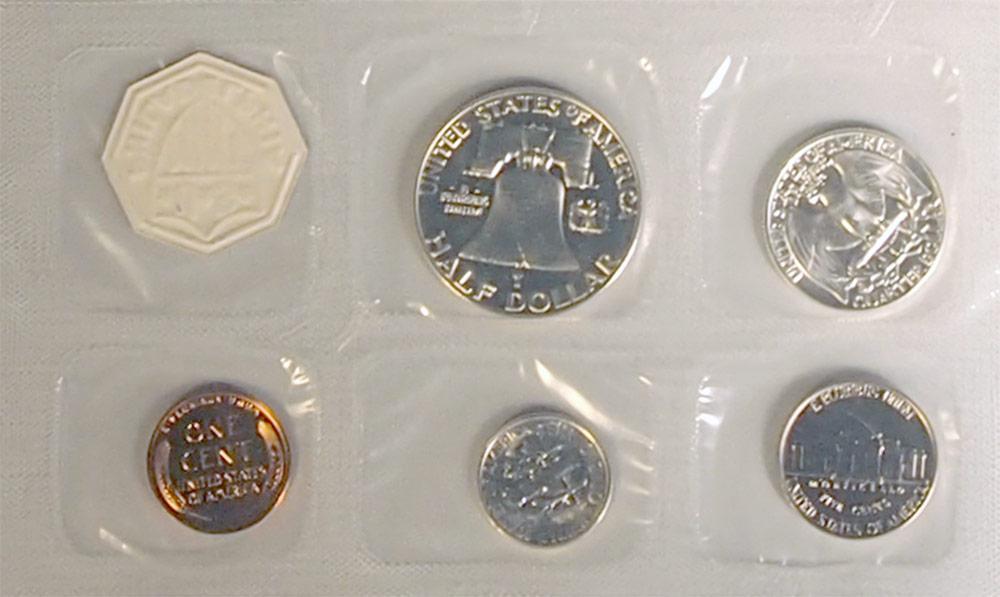 1955 PROOF SET * ORIGINAL * 5 Coin U.S. Mint Flat Pack Proof Set