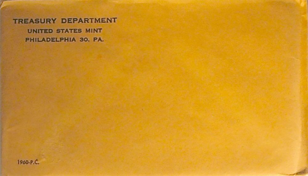 1960 PROOF SET * ORIGINAL * 5 Coin U.S. Mint Flat Pack Proof Set