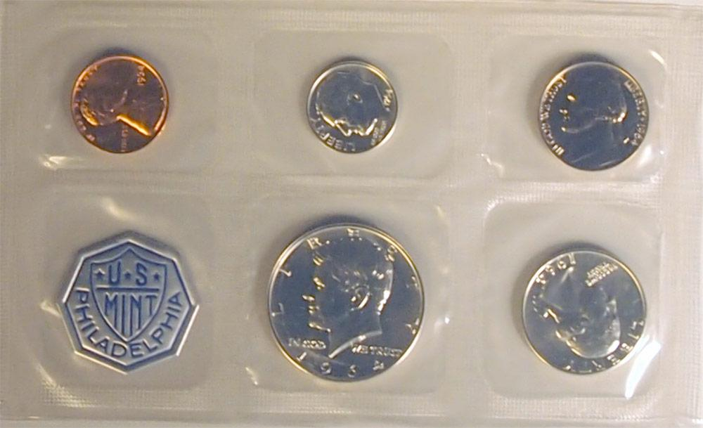 1964 PROOF SET * ORIGINAL * 5 Coin U.S. Mint Flat Pack Proof Set