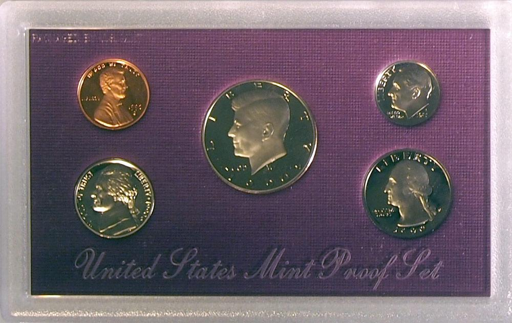1990 PROOF SET * ORIGINAL * 5 Coin U.S. Mint Proof Set