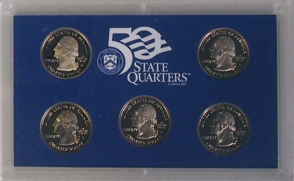 1999 QUARTER PROOF SET * ORIGINAL * 5 Coin U.S. Mint Proof Set