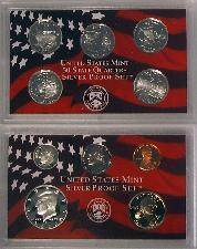 2002 SILVER PROOF SET * ORIGINAL * 10 Coin U.S. Mint Proof Set