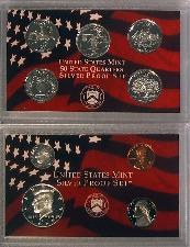 1999 SILVER PROOF SET * ORIGINAL * 9 Coin U.S. Mint Proof Set