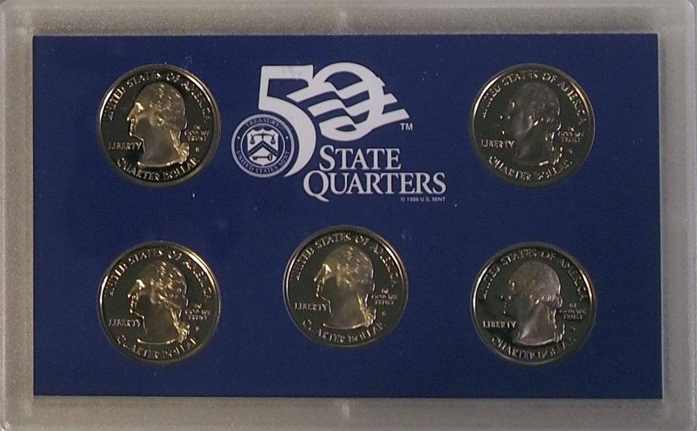 2003 QUARTER PROOF SET * ORIGINAL * 5 Coin U.S. Mint Proof Set