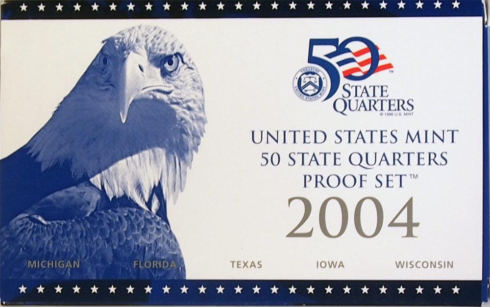 2004 QUARTER PROOF SET * ORIGINAL * 5 Coin U.S. Mint Proof Set