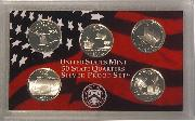 2004 SILVER QUARTER PROOF SET * 5 Coin U.S. Mint Proof Set