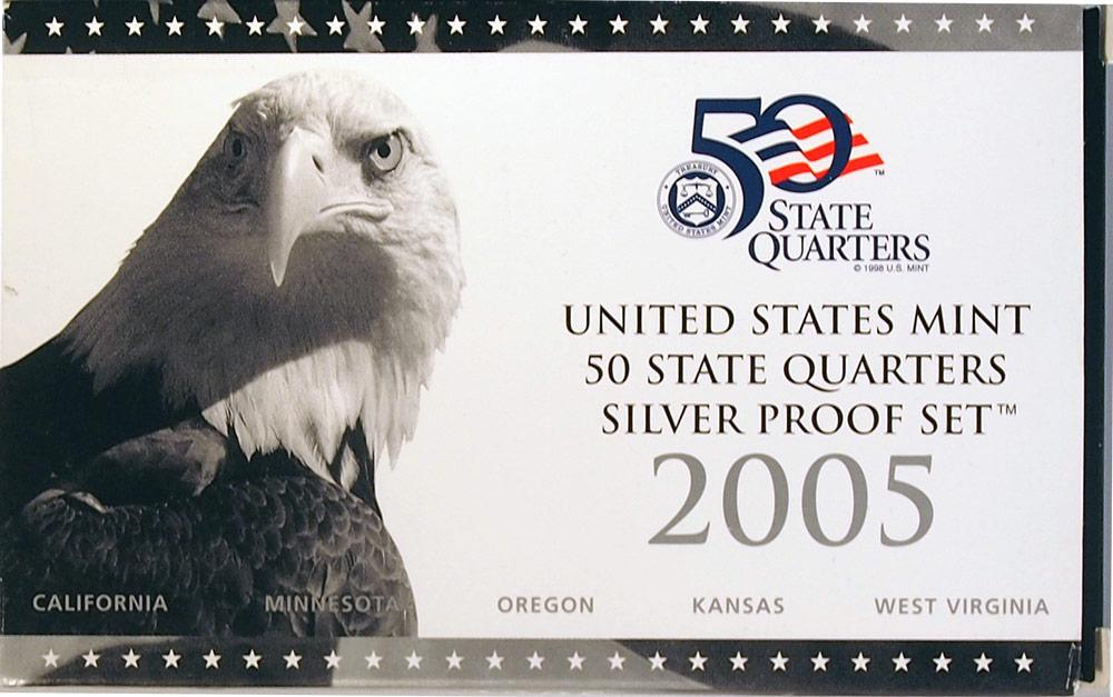 2005 SILVER QUARTER PROOF SET * 5 Coin U.S. Mint Proof Set