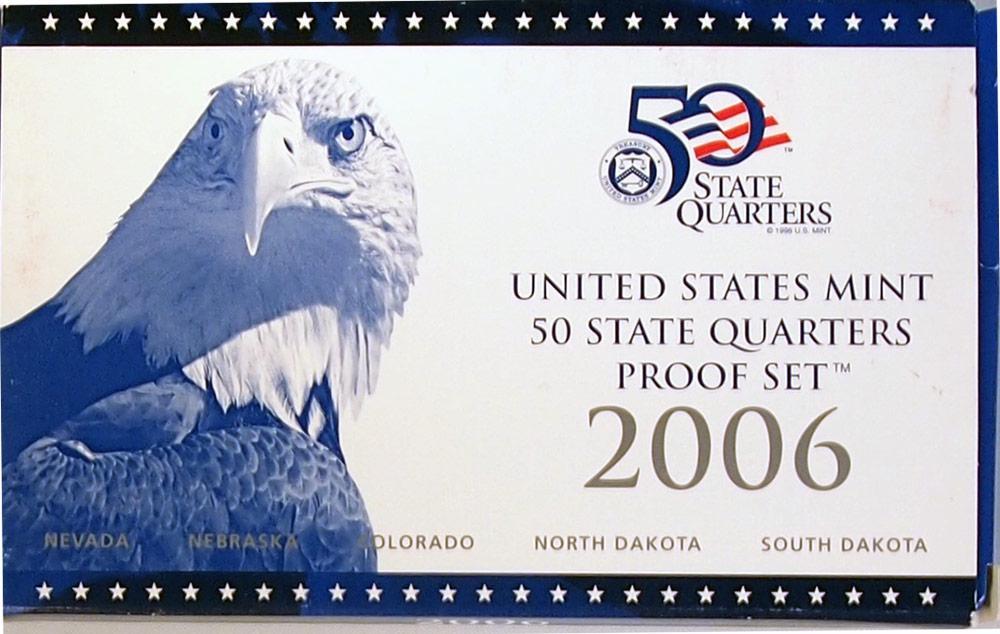 2006 QUARTER PROOF SET * ORIGINAL * 5 Coin U.S. Mint Proof Set