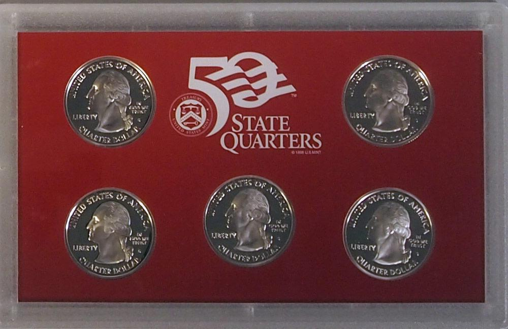 2006 SILVER QUARTER PROOF SET * 5 Coin U.S. Mint Proof Set