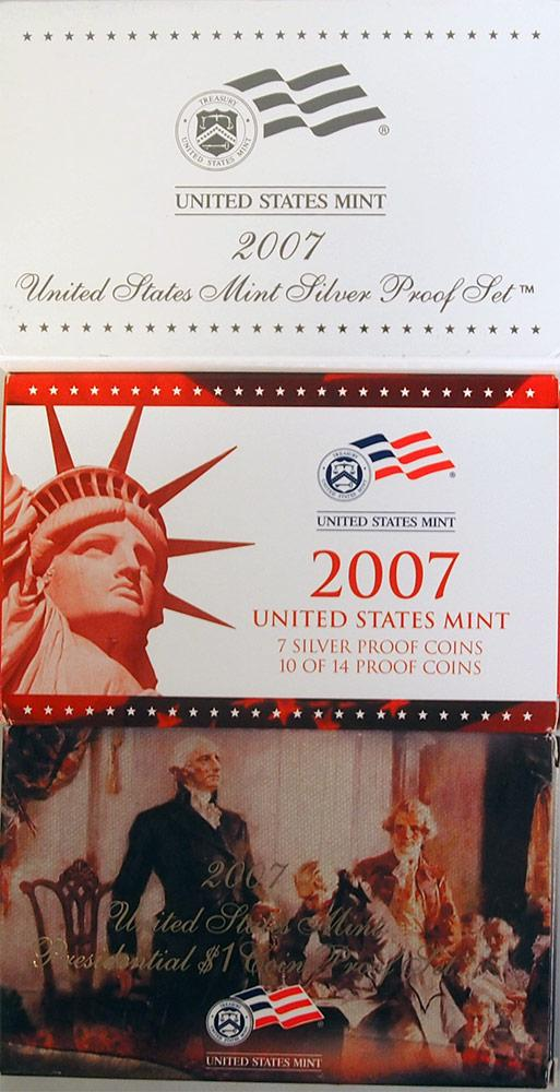 2007 SILVER PROOF SET * ORIGINAL * 14 Coin U.S. Mint Proof Set