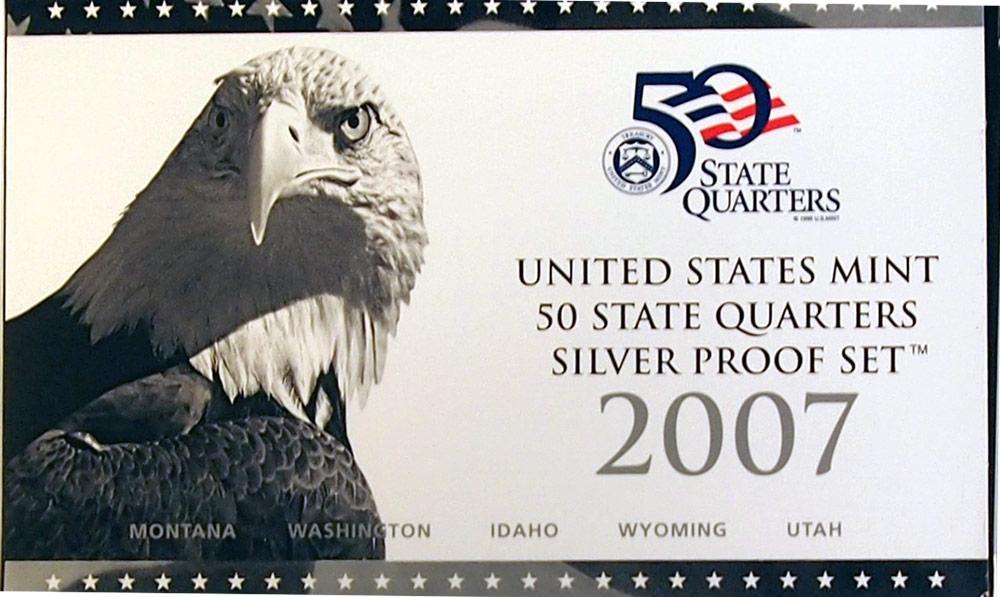 2007 SILVER QUARTER PROOF SET * 5 Coin U.S. Mint Proof Set
