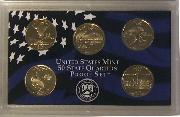 2007 QUARTER PROOF SET * ORIGINAL * 5 Coin U.S. Mint Proof Set