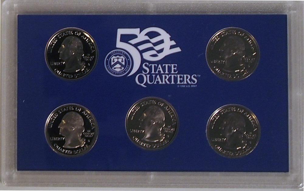 2000 QUARTER PROOF SET * ORIGINAL * 5 Coin U.S. Mint Proof Set