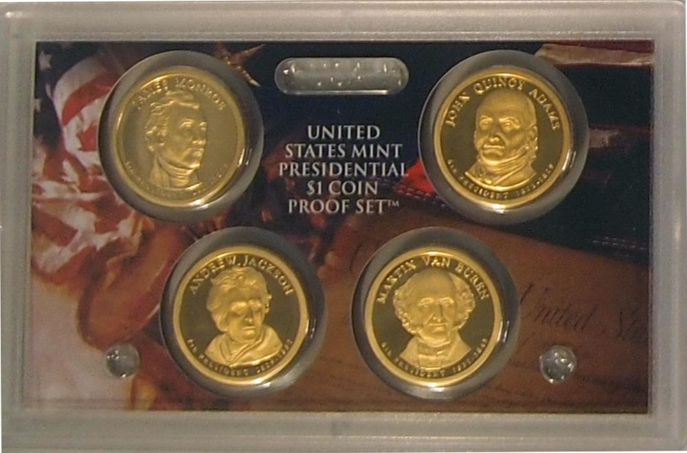 2008 PRESIDENTIAL DOLLAR PROOF SET * 4 Coin U.S. Mint Proof Set
