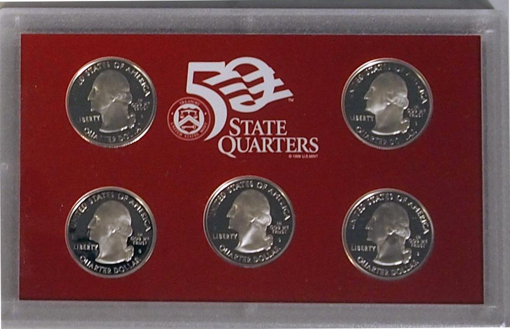 2008 SILVER QUARTER PROOF SET * 5 Coin U.S. Mint Proof Set