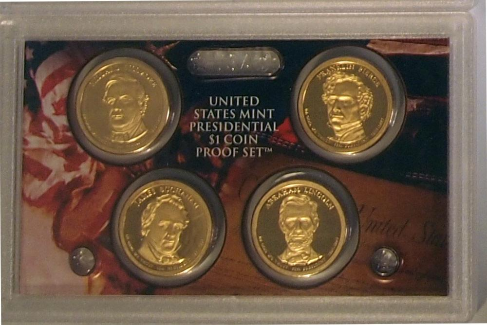 2010 PRESIDENTIAL DOLLAR PROOF SET * 4 Coin U.S. Mint Proof Set