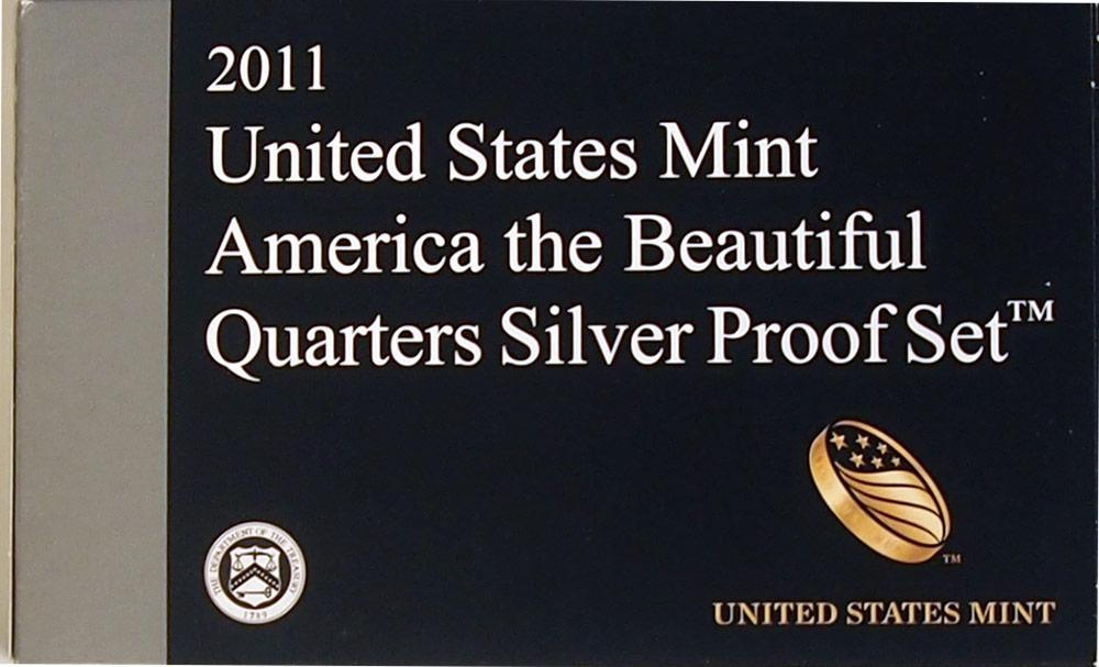 2011 SILVER QUARTER PROOF SET * 5 Coin U.S. Mint Proof Set