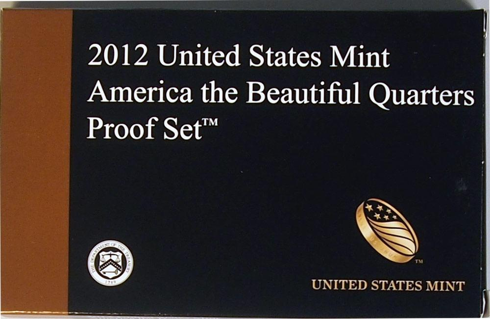 2012 QUARTER PROOF SET * ORIGINAL * 5 Coin U.S. Mint Proof Set