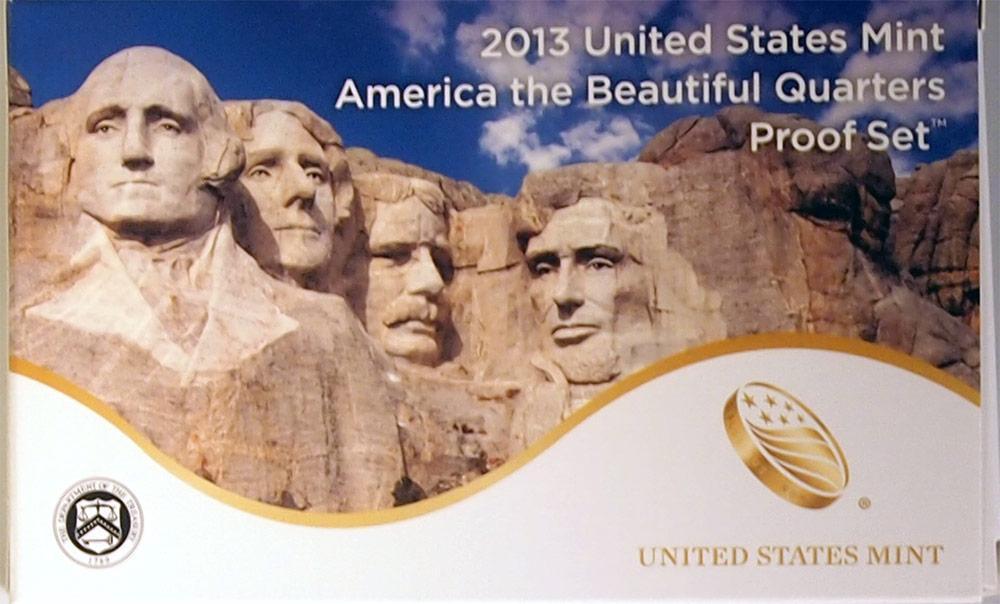 2013 QUARTER PROOF SET * ORIGINAL * 5 Coin U.S. Mint Proof Set