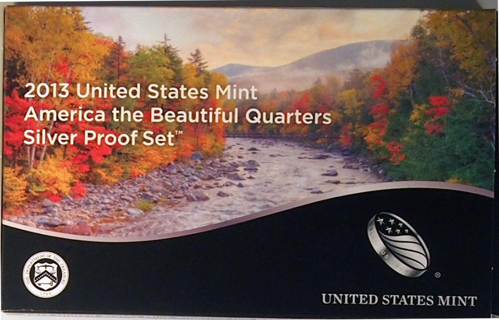 2013 SILVER QUARTER PROOF SET * 5 Coin U.S. Mint Proof Set