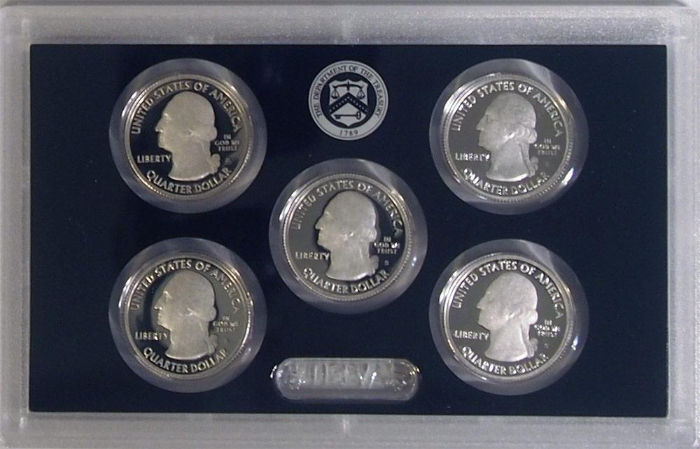 2014 SILVER QUARTER PROOF SET * 5 Coin U.S. Mint Proof Set