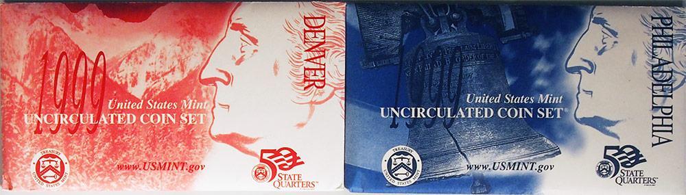 1999 Mint Set - All Original 18 Coin U.S. Mint Uncirculated Set