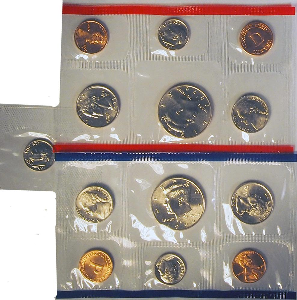 1996 Mint Set  w/ Rare 1996-W Dime 11 Coin U.S. Mint Uncirculated Set