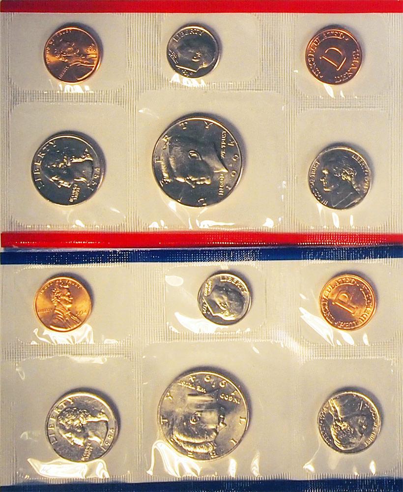 1994 Mint Set - All Original 10 Coin U.S. Mint Uncirculated Set