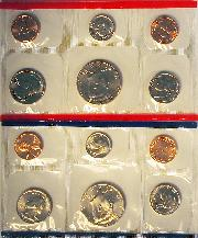 1992 Mint Set - All Original 10 Coin U.S. Mint Uncirculated Set