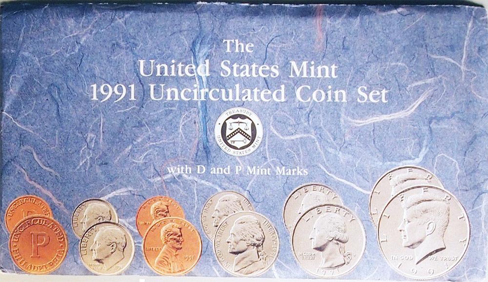 1991 Mint Set - All Original 10 Coin U.S. Mint Uncirculated Set