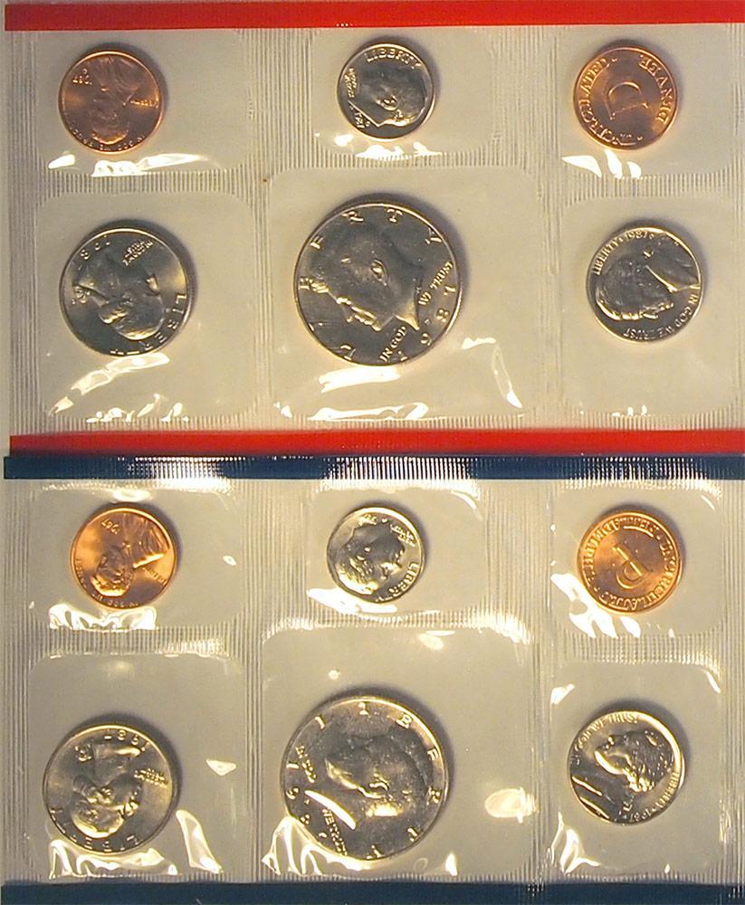 1987 Mint Set - All Original 10 Coin U.S. Mint Uncirculated Set