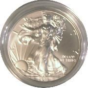 2011-W Burnished BU American Silver Eagle * 1oz Silver