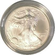 2008-W Burnished BU American Silver Eagle * 1oz Silver