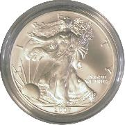 2007-W Burnished BU American Silver Eagle * 1oz Silver