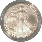 2006-W Burnished BU American Silver Eagle * 1oz Silver